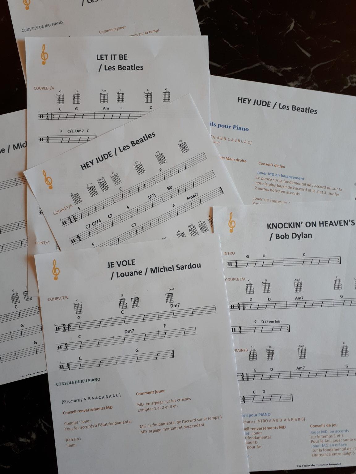partitions gratuites cours de musique Armonia