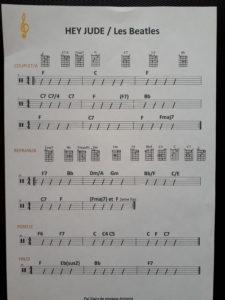 Partition gratuite Hey Jude Beatles par cours de musique Armonia0